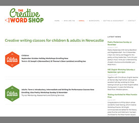 Creative Wordshop Creative Writing Workshops Newcastle NSW - LloydWeb Portfolio Therese Lloyd